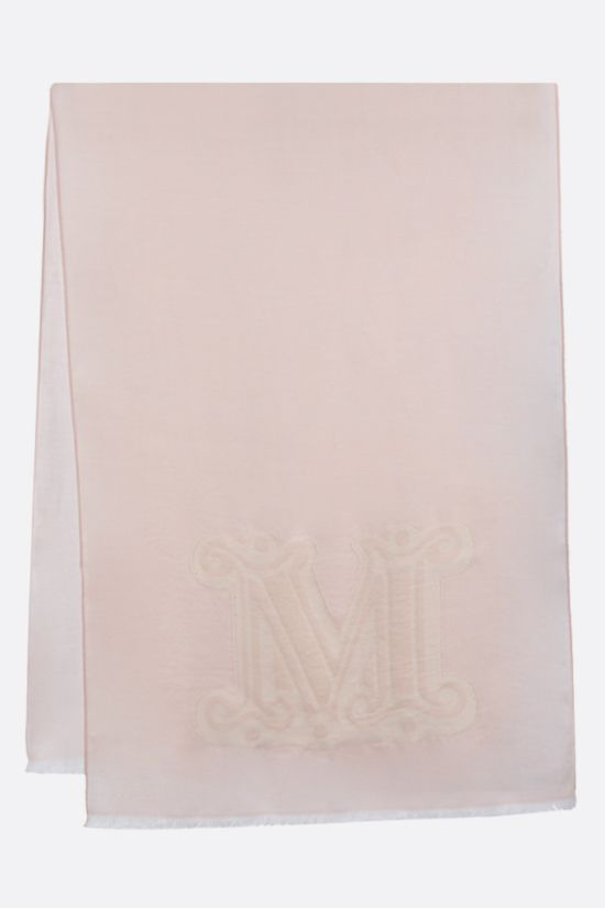MAX MARA: Liuto2 wool silk blend stole Color Pink_2