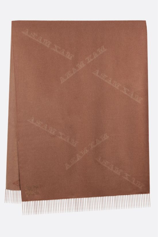 MAX MARA: Wsklaus cashmere stole Color Brown_2