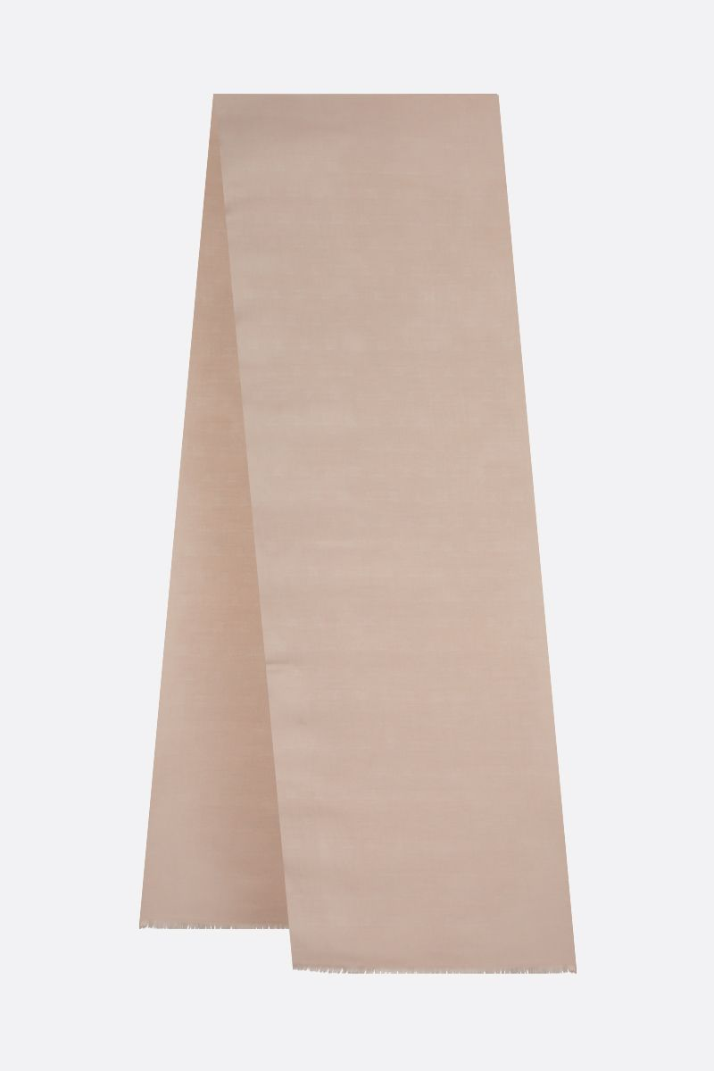 MAX MARA: Ola wool silk blend stole Color Neutral_2