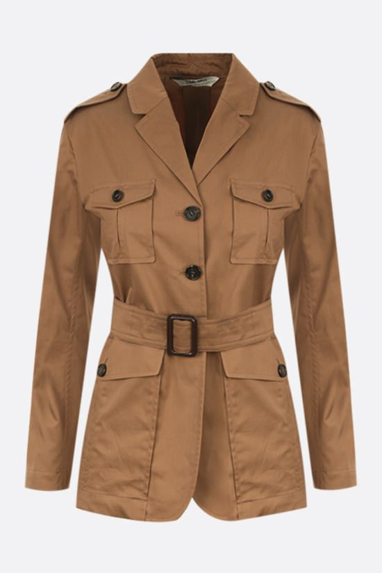'S MAX MARA: Park cotton safari jacket_1