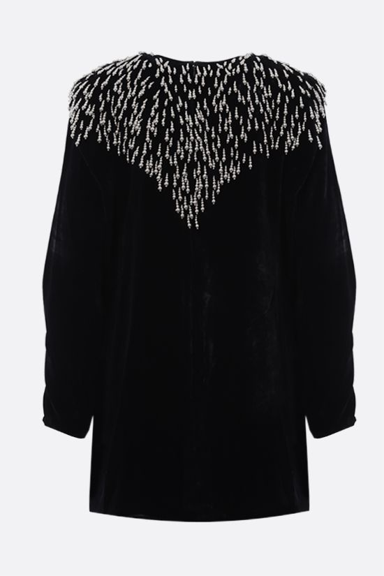 ISABEL MARANT: Gabasi velvet minidress Color Black_2