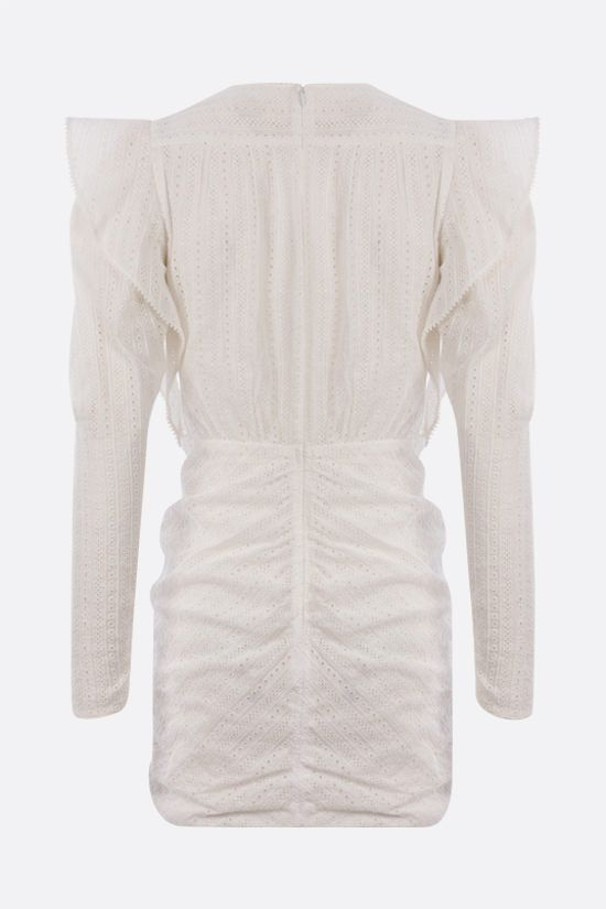 ISABEL MARANT: Getya broderie anglaise minidress Color White_2