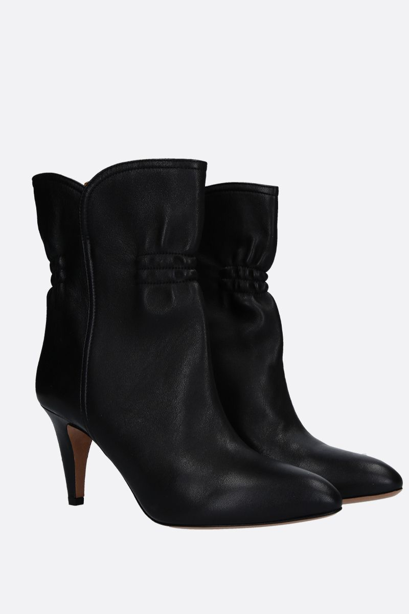 ISABEL MARANT: Dedie ankle boots in smooth leather Color Black_2