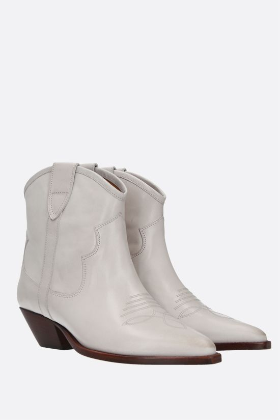 ISABEL MARANT: Demar smooth leather western boots Color Neutral_2