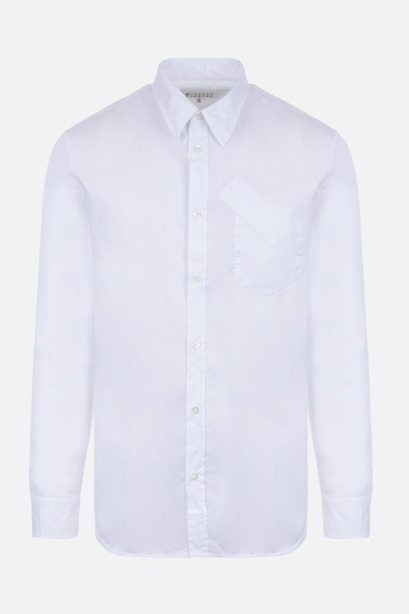 MAISON MARGIELA: Memory Of pocket-detailed cotton shirt Color White_1