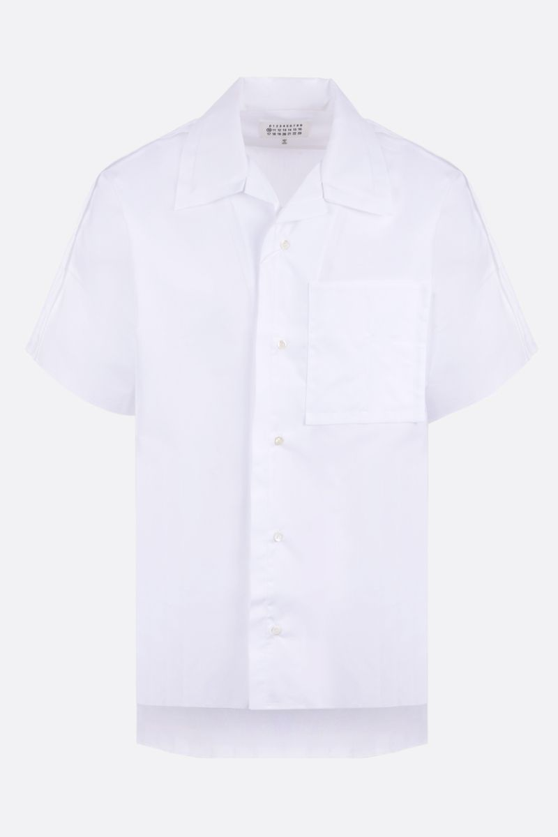 MAISON MARGIELA: Outline cotton bowling shirt Color White_1