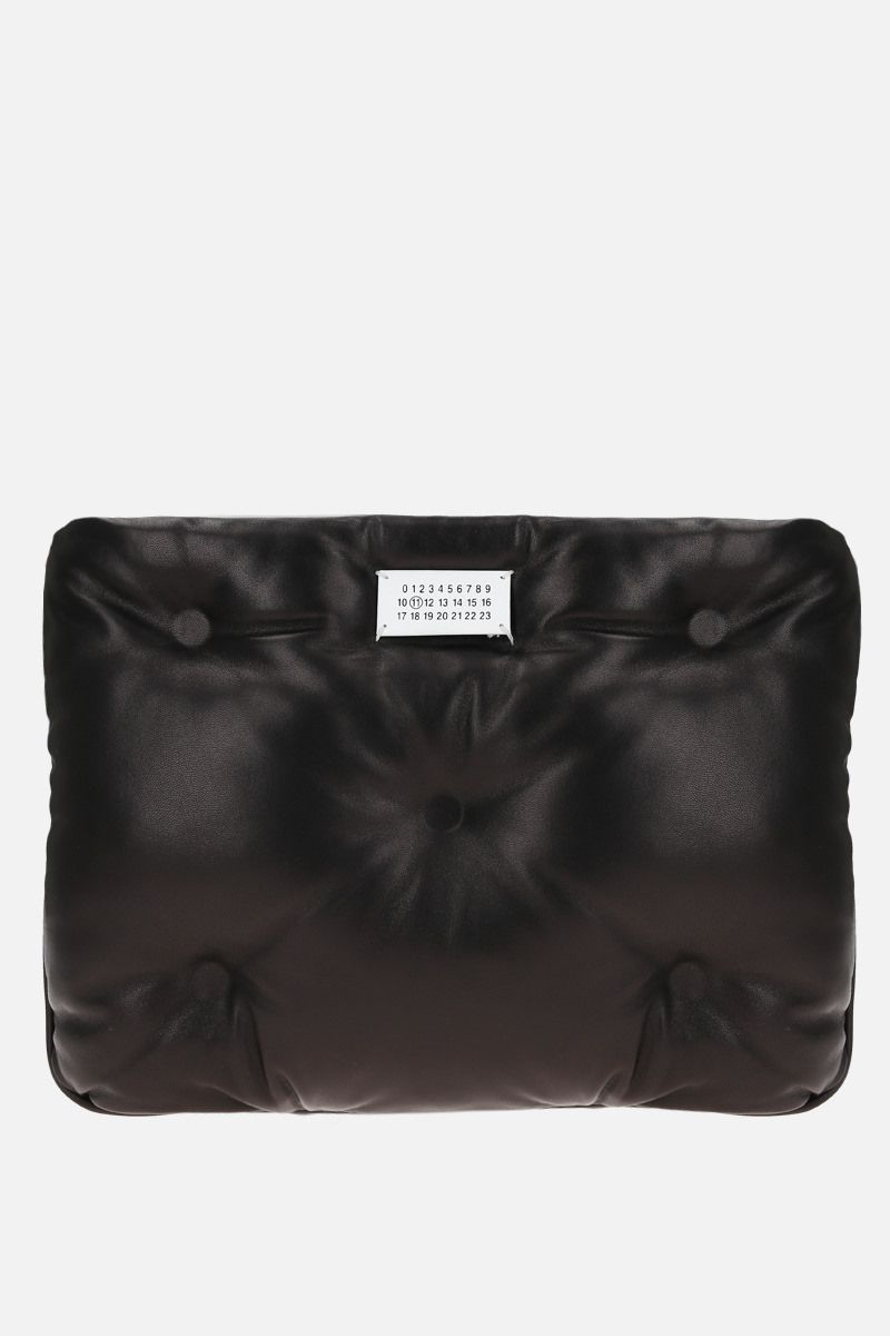 MAISON MARGIELA: Glam Slam quilted nappa clutch Color Black_1