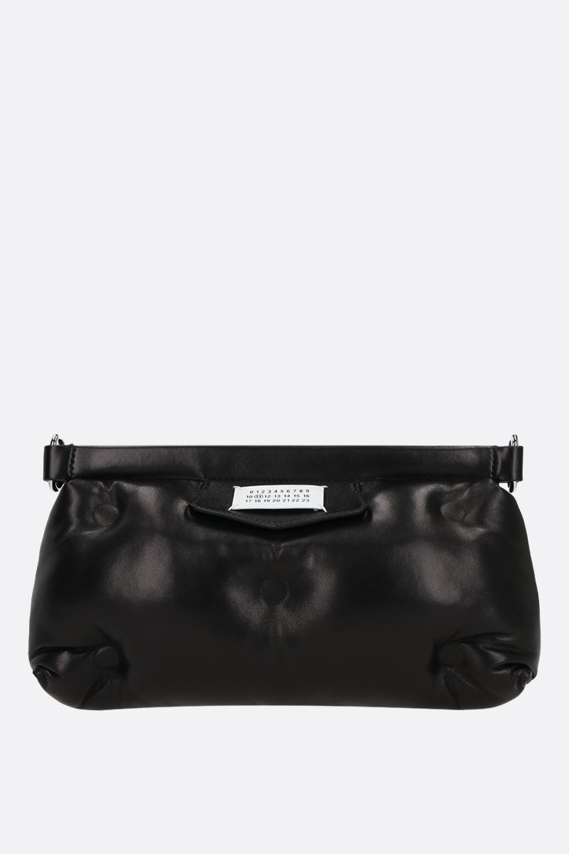 MAISON MARGIELA: Glam Slam Red Carpet quilted nappa clutch Color Black_1