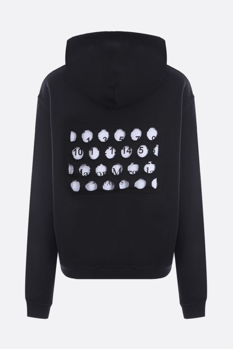 MAISON MARGIELA: numeric logo-detailed cotton oversize hoodie Color Black_2