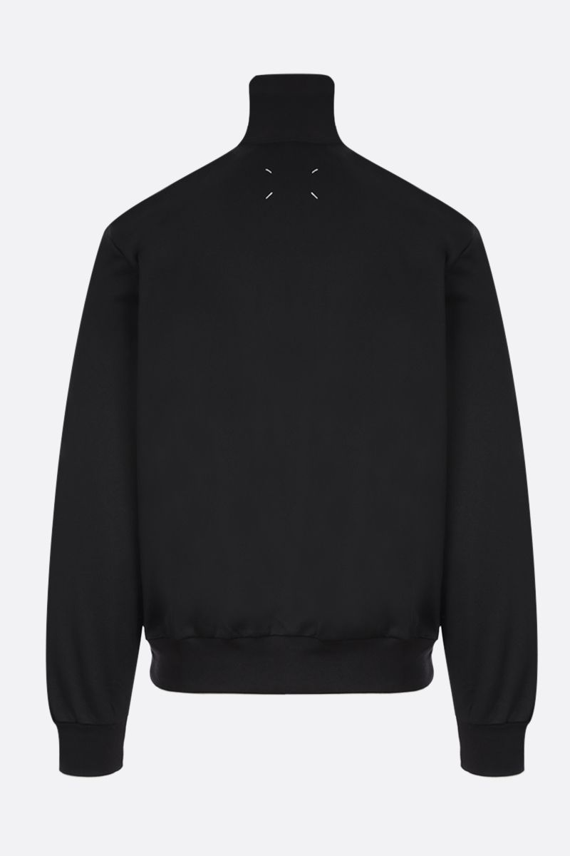 MAISON MARGIELA: technical cotton full-zip sweatshirt Color Black_2