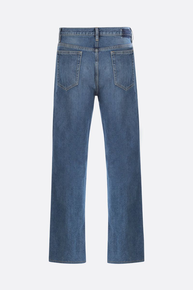 MAISON MARGIELA: frayed hem-detailed straight-fit jeans_2