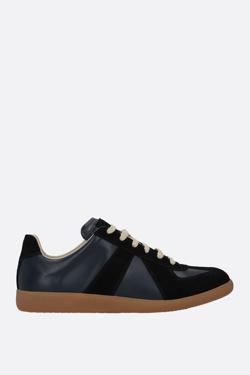 MAISON MARGIELA: Replica smooth leather and suede sneakers_1