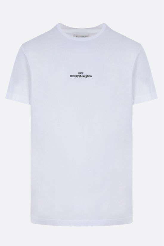 MAISON MARGIELA: logo embroidered cotton t-shirt Color Multicolor_1