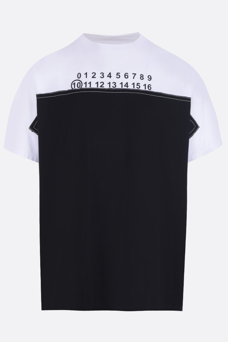 MAISON MARGIELA: number logo print cotton oversize t-shirt Color Black_1