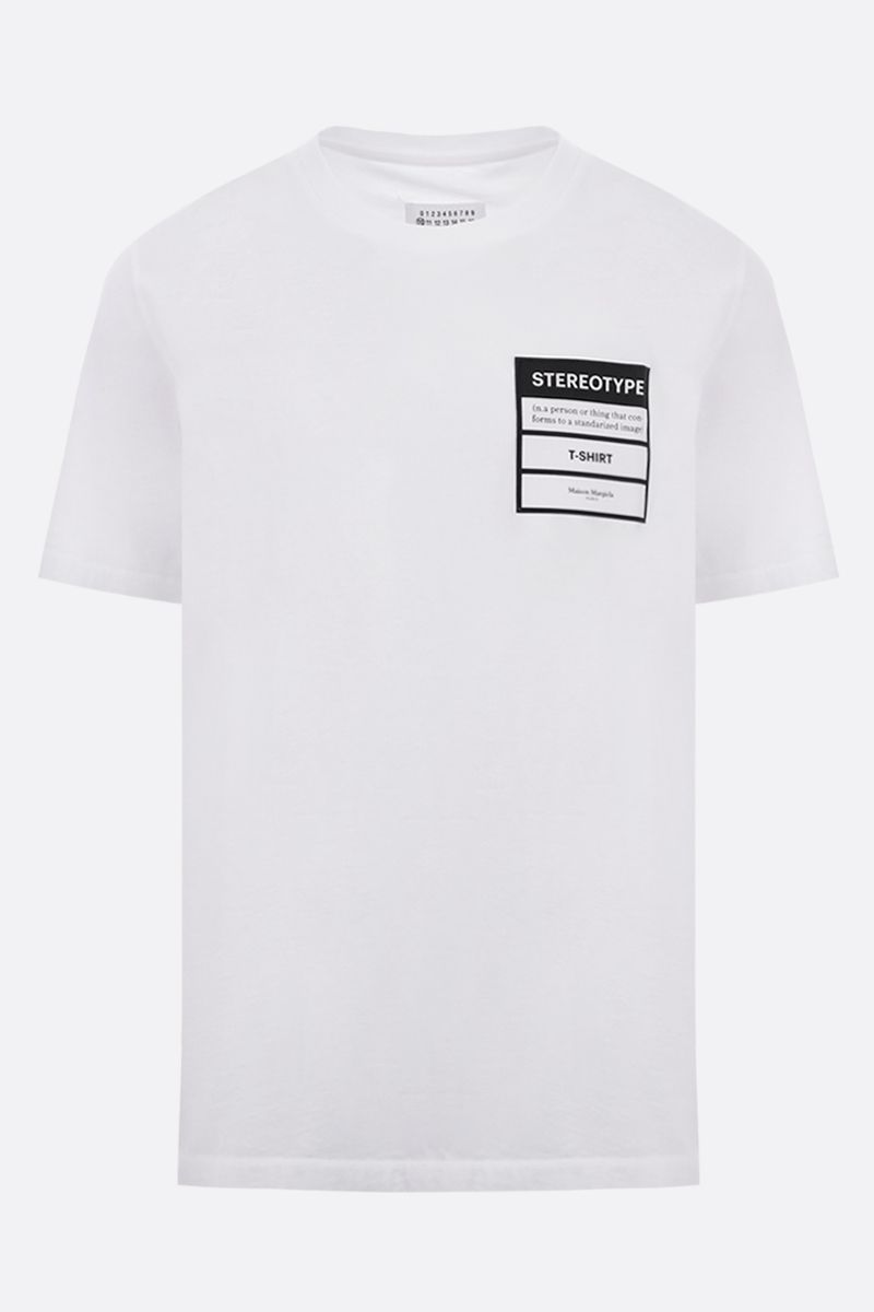 MAISON MARGIELA: t-shirt Stereotype in cotone Colore Bianco_1
