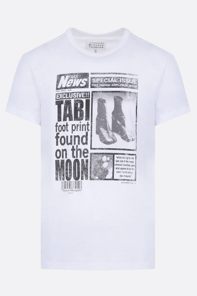 MAISON MARGIELA: Tabi cotton t-shirt Color White_1