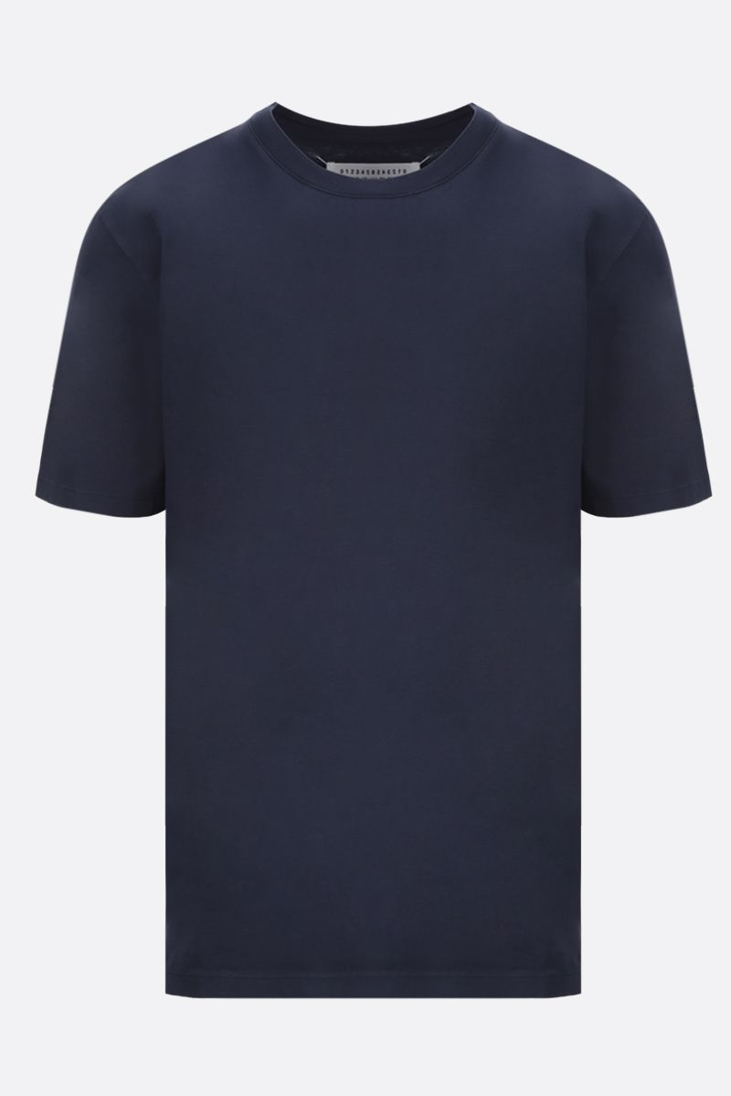 MAISON MARGIELA: cotton t-shirt Color Blue_1