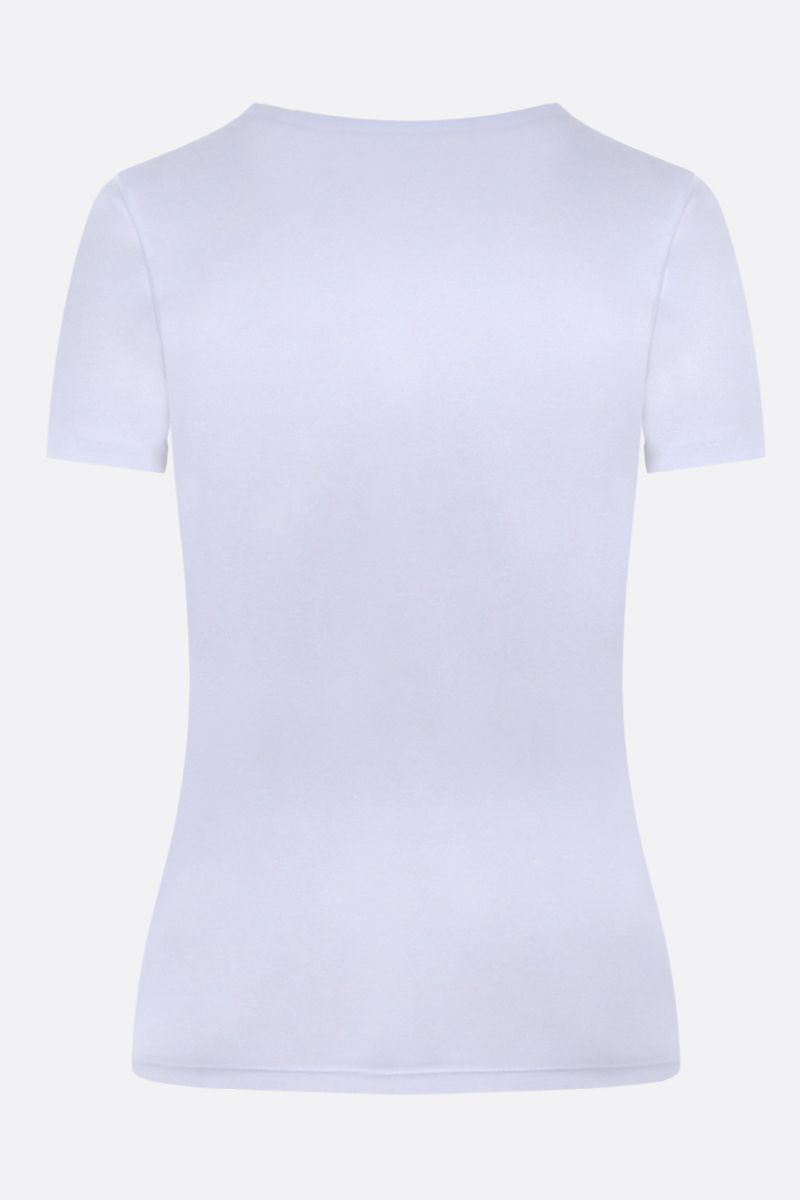 MARINE SERRE: Moon embroidered cotton t-shirt Color White_2
