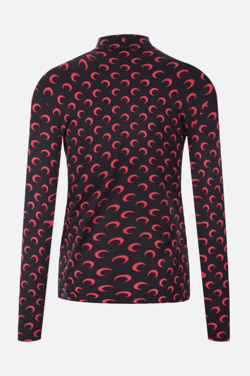 MARINE SERRE: Second Skin Moon recycled technical fabric top Color Black_2
