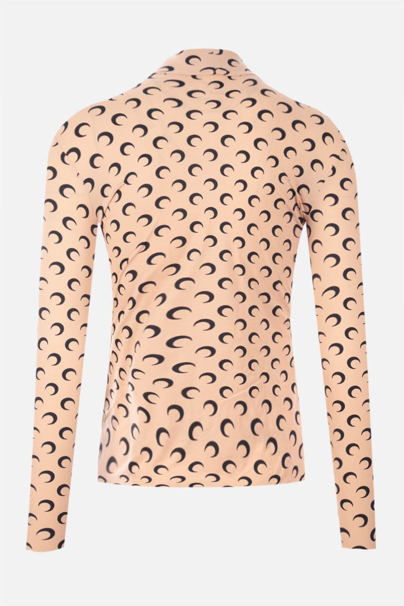 MARINE SERRE: Second Skin Moon recycled technical fabric top Color Neutral_2