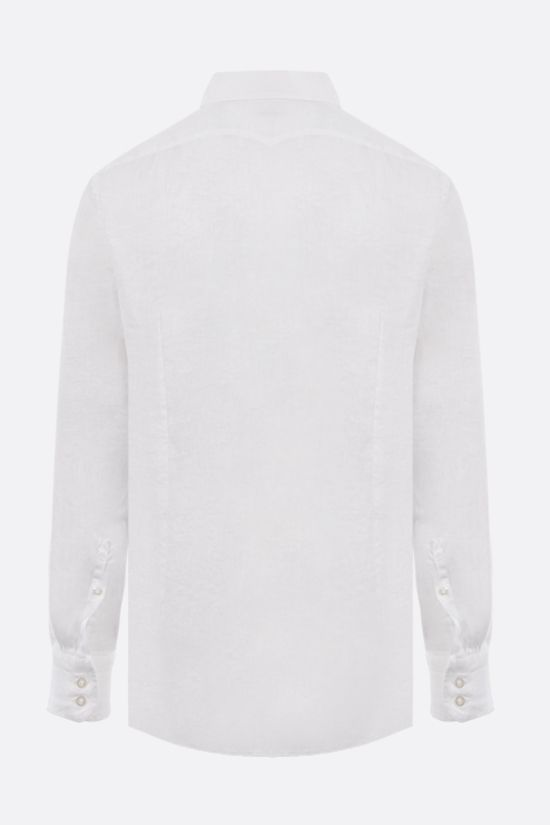 MASSIMO ALBA: Canary linen shirt Color White_2