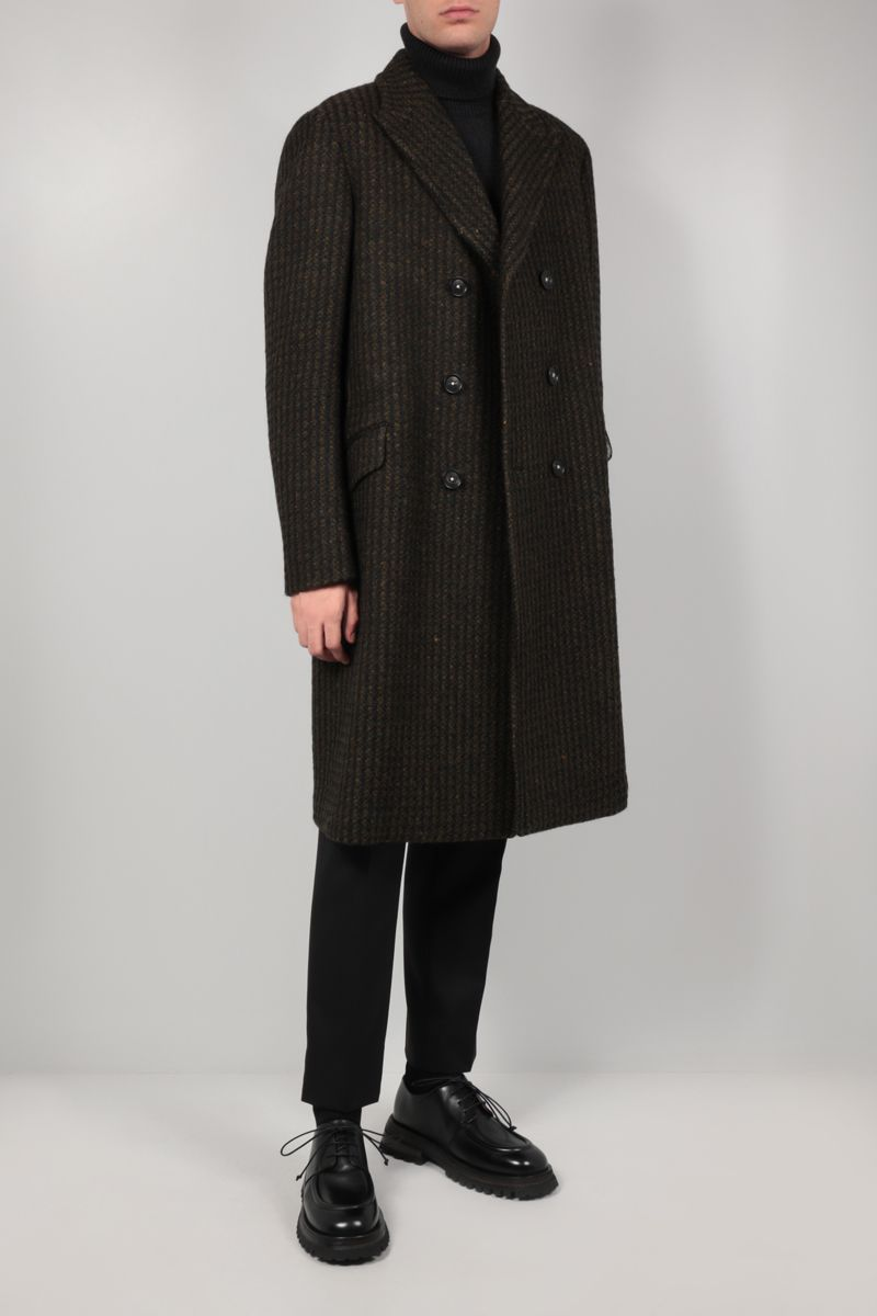MASSIMO ALBA: Dodge double-breasted tweed coat Color Green_2