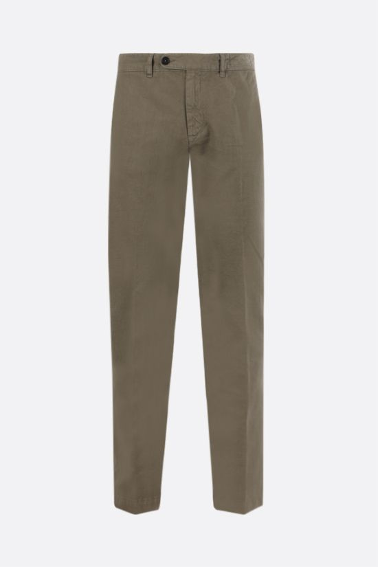 MASSIMO ALBA: Winch cotton linen blend pants Color Green_1