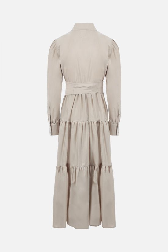 MAX MARA: Bergen cotton flounced dress Color Neutral_2