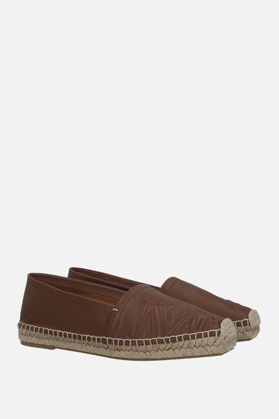 MAX MARA: Eli nappa espadrilles Color Brown_2