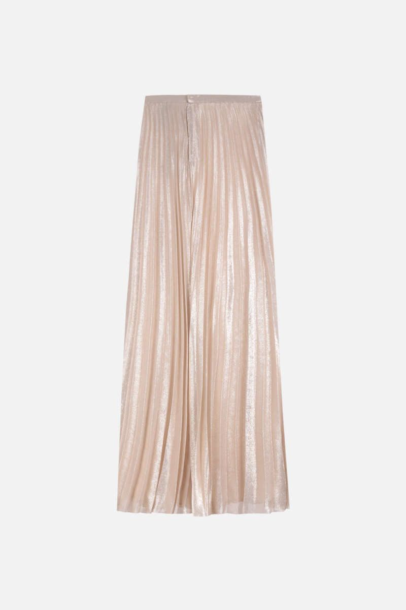 MAX MARA: Pacato georgette pleated skirt Color Gold_2