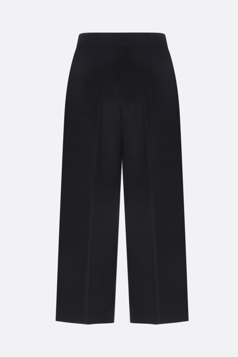 MAX MARA: Peplo cropped pants in camelwool Color Black_2