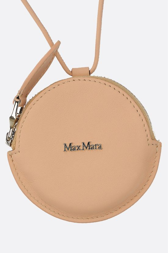 MAX MARA: Destino smooth leather coin purse with strap Color Orange_2