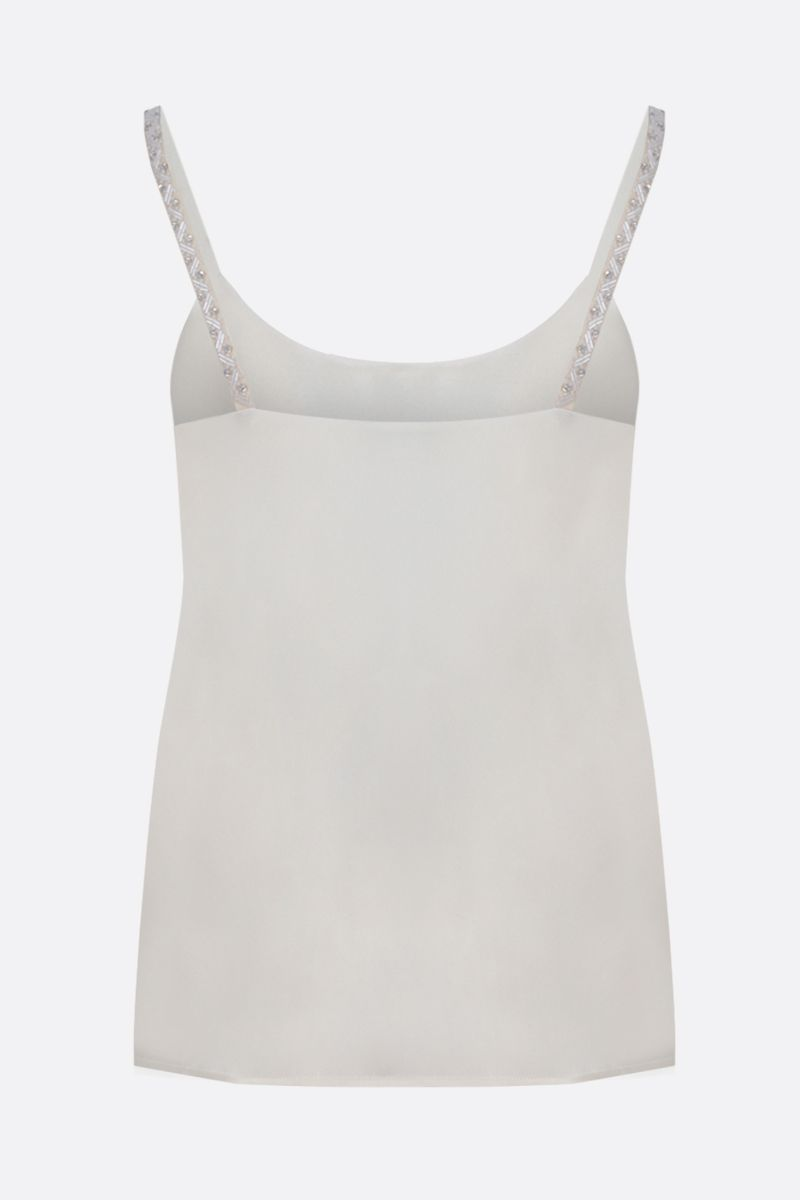 MAX MARA: Lory silk top Color White_2