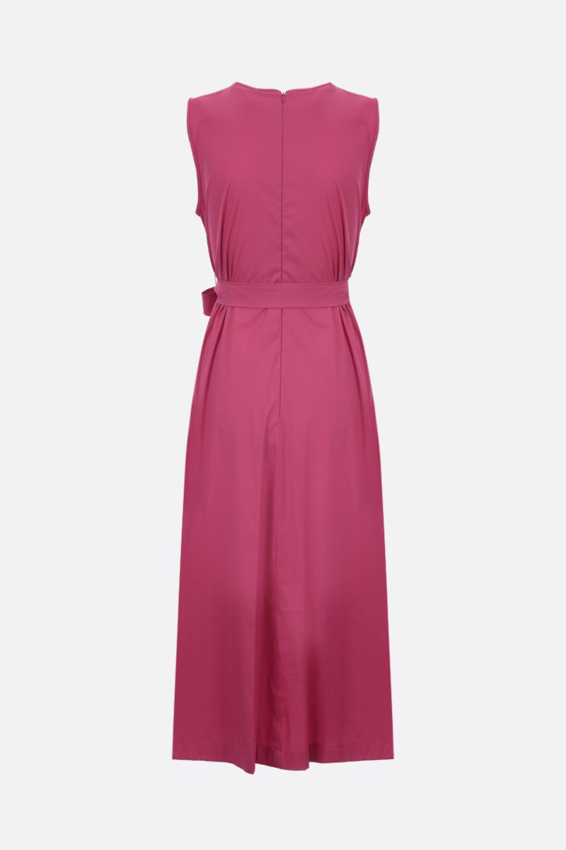 'S MAX MARA: Extra stretch poplin sleeveless dress Color Pink_2
