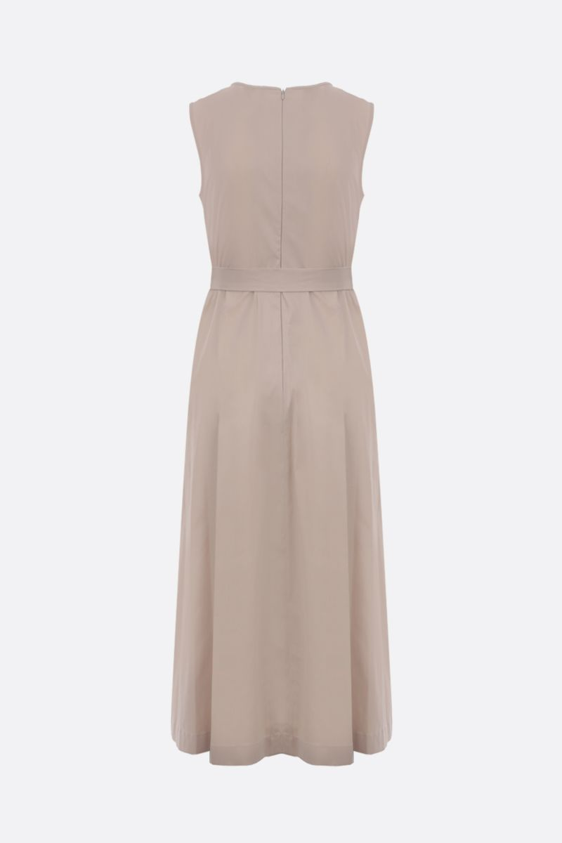 'S MAX MARA: Extra stretch poplin sleeveless dress Color Neutral_2