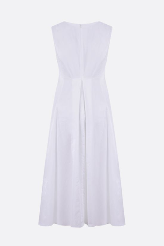 'S MAX MARA: Pisa cotton satin midi dress Color White_2