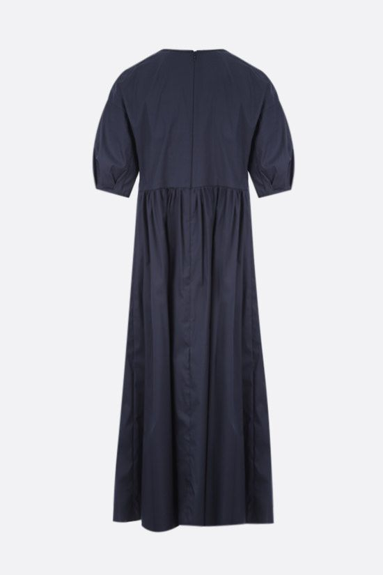 'S MAX MARA: Fato cotton midi dress Color Blue_2
