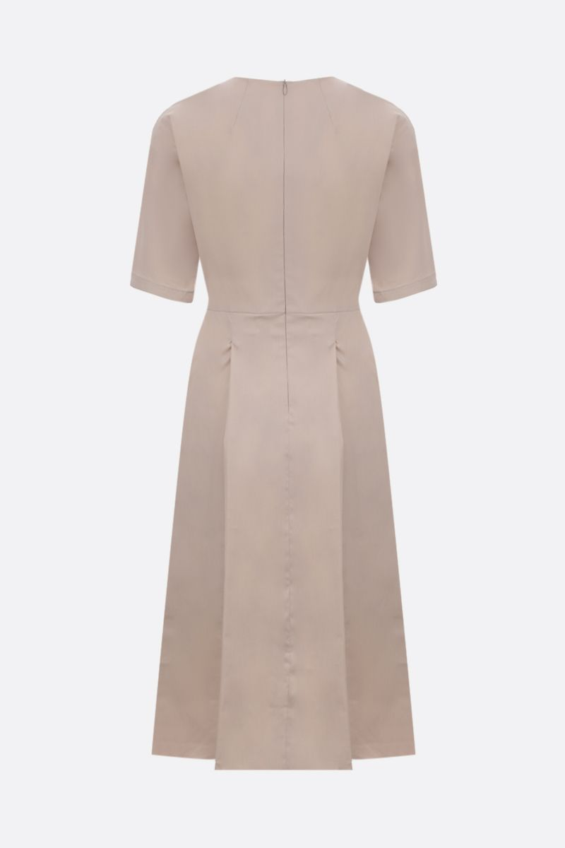 'S MAX MARA: Lea stretch poplin midi dress Color Neutral_2