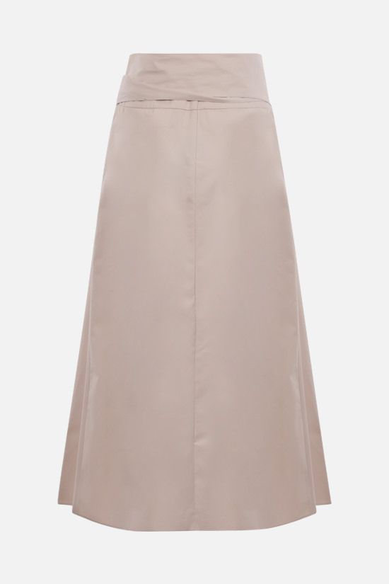 'S MAX MARA: Ardenza cotton midi skirt Color Neutral_2