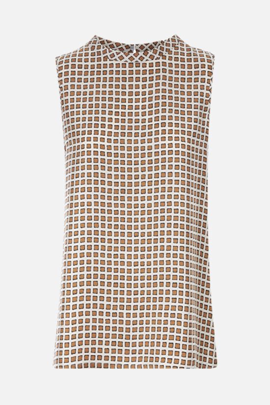 'S MAX MARA: Zarelia silk twill top Color Neutral_1