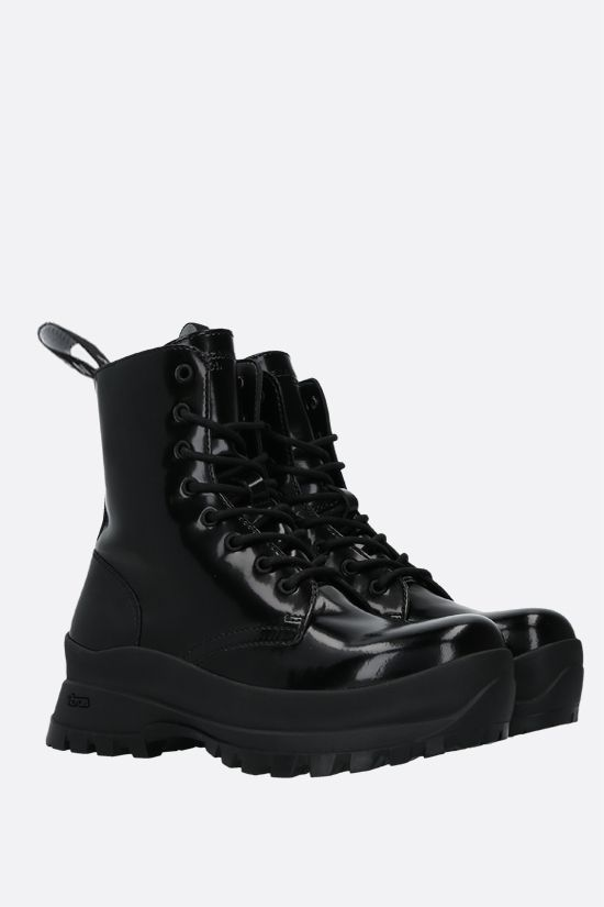 STELLA McCARTNEY: Trace combat boots in shiny Alter Nappa Color Black_2