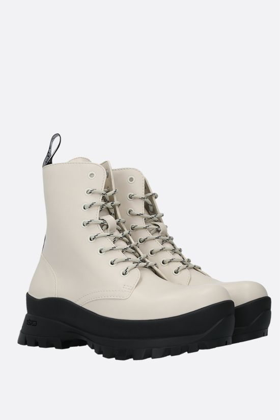 STELLA McCARTNEY: Trace combat boots in shiny Alter Nappa Color White_2