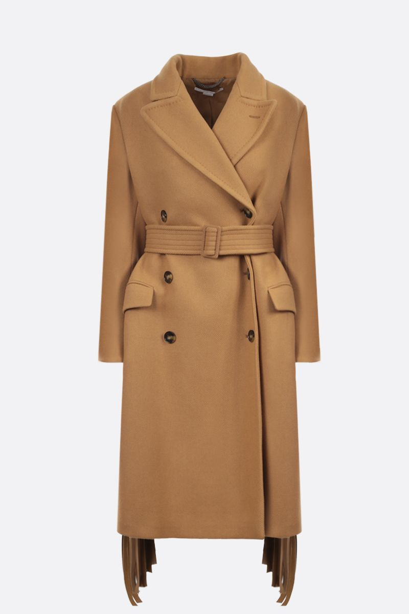 STELLA McCARTNEY: Phoebe wool double-breasted coat Color Brown_1