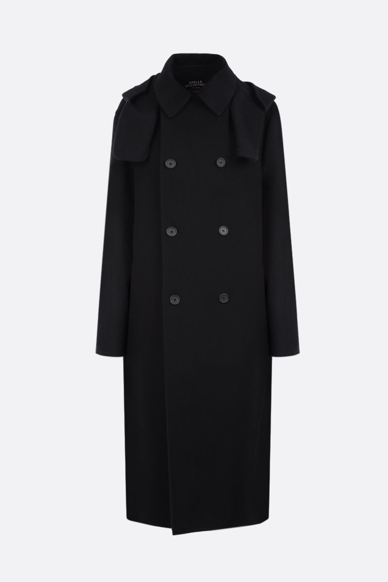 STELLA McCARTNEY: Lance wool double-breasted coat Color Black_1