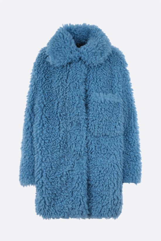 STELLA McCARTNEY: cappotto oversize Josephine in Fur Free Fur Colore Blu_1