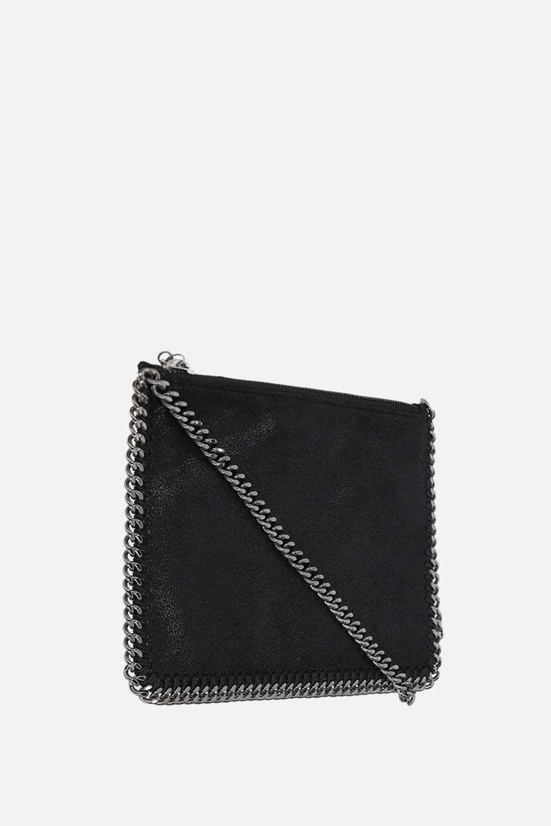 STELLA McCARTNEY: Falabella clutch in Shaggy Deer Color Black_2