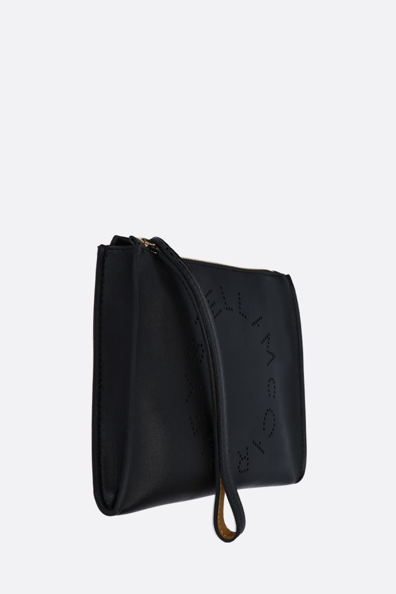 STELLA McCARTNEY: Stella Logo clutch in Alter Nappa Color Black_2