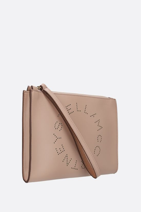 STELLA McCARTNEY: Stella Logo clutch in Alter Nappa Color Pink_2