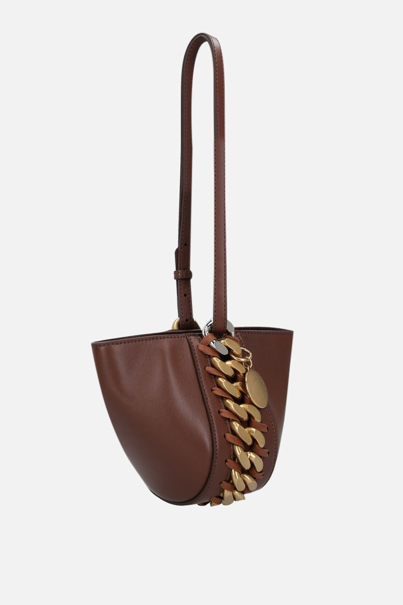 STELLA McCARTNEY: Frayme clutch in Alter Nappa Color Brown_2