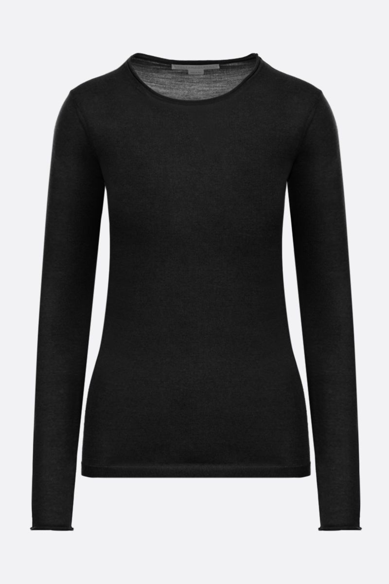 STELLA McCARTNEY: lightweight wool pullover Color Black_1